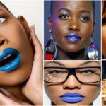Rouge à lèvres « bleu » – Peau noire & métisse.