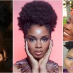 Afro Puff – idée de coiffure afro simple et rapide.