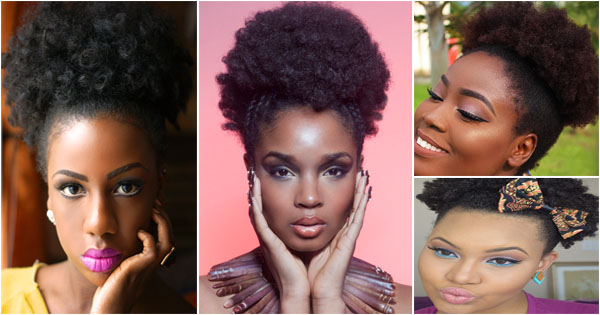 Afro Puff Quick Hairstyle For Black Women Afroculture