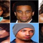 Célébrités noires et métisses aux yeux bleus.