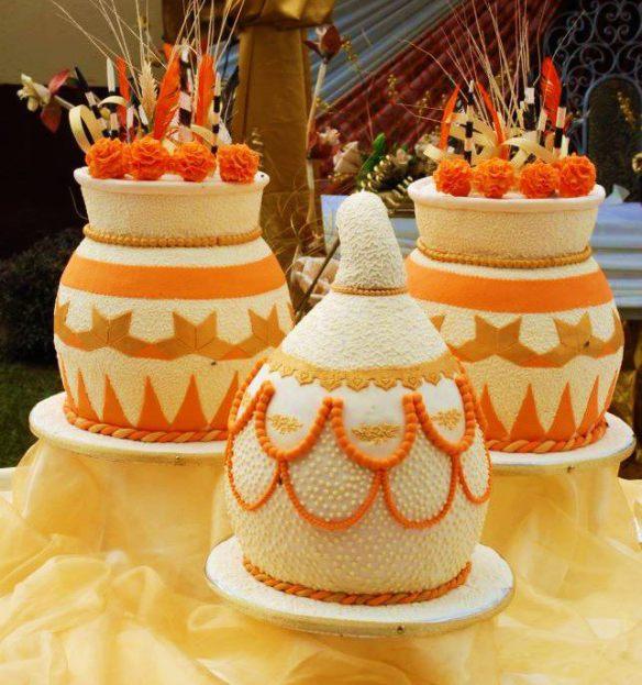 gâteaux de mariage aux couleurs de l'Afrique.