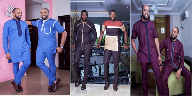 Mode africaine homme  collection « Afropolitan three piece » de Vanskere.