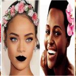 7 célébrités noires sublimes avec des fleurs.