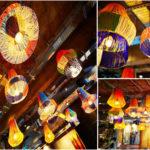 Décoration intérieure : chandelier Otago d'inspiration Dinka pour Nandos Harrogate.