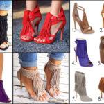 Chaussures à franges – tendance mode femme.