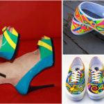 Chaussures colorées pour femmes.