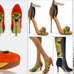 Chaussures en kente pour femmes (style africain).