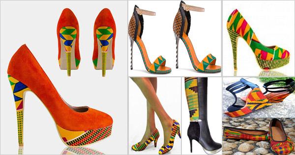 66a3c89a16a95 Men's Kente Shoes | Ankara Shoes – Afroculture.net