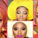 Maquillage et gele – mariage africain.