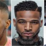 Raie sur le côté – coiffure homme noir et métis.