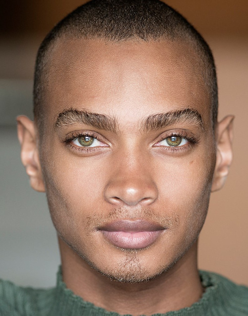 12 Black Male Supermodels With Green Blue And Hazel Eyes