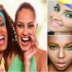 Maquillage spécial Coupe du monde au Brésil.