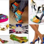 Chaussures en wax pour femmes (style africain).