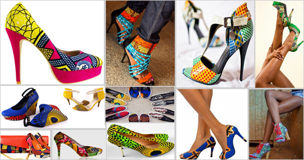 Chaussures en wax pour femmes (style africain)