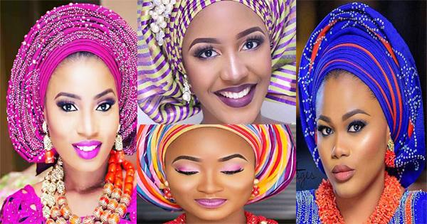 Mariage africain  maquillage \u0026 gele spéciale mariée.