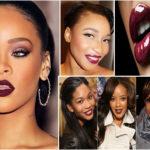 Rouge à lèvres bordeaux – peau noire & métisse.