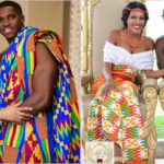 11 couples en tenue traditionnelle Kente/Kita.