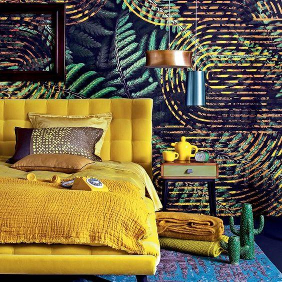 Chambre coucher for Decoration maison tropicale