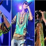 Wiz Khalifa sur scène en Dashiki vert