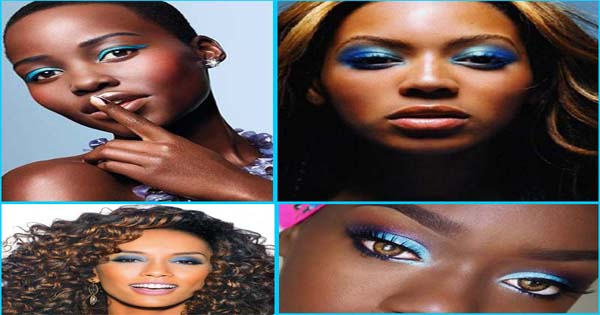 Blue Eye Makeup for black women – Blue Eyeshadow