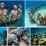 Grenade : sculptures sous-marines en hommage aux esclaves africains