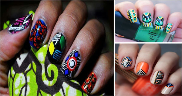 Tribal Nail Art An Original Tribal Manicure Afroculture