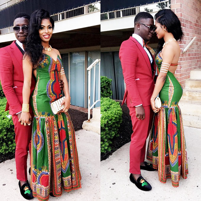 560924785d6 Prom night  15 amazing couples in African Print Prom clothes ...