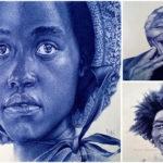 Les magnifiques portraits réalistes au stylo-bille d'Enam Bosokah  | Pen Art