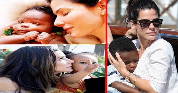 Sandra Bullock presents her adopted children Louis & Laila ...