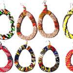 Boucles d'oreilles en tissu wax | Boutique en ligne Culture Afro