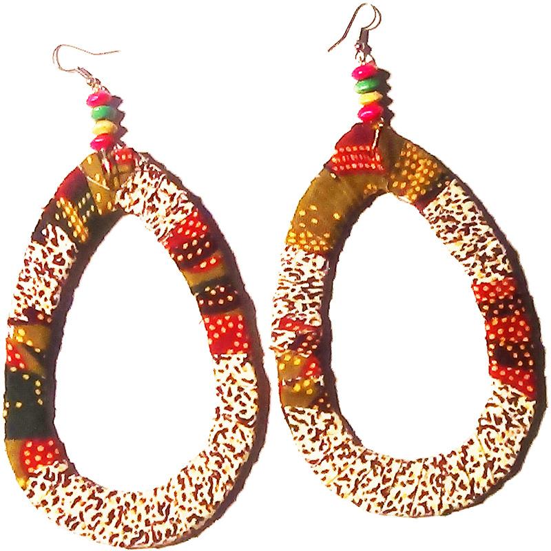 boucles d oreilles en tissu wax boutique en ligne culture afro. Black Bedroom Furniture Sets. Home Design Ideas