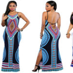 Sexy tight Dashiki dress open on the side  – Several colors available