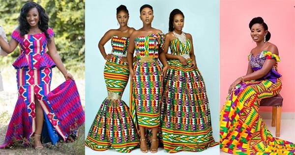 Elegant Glamorous African Wedding Dresses In Kente Afroculture Net