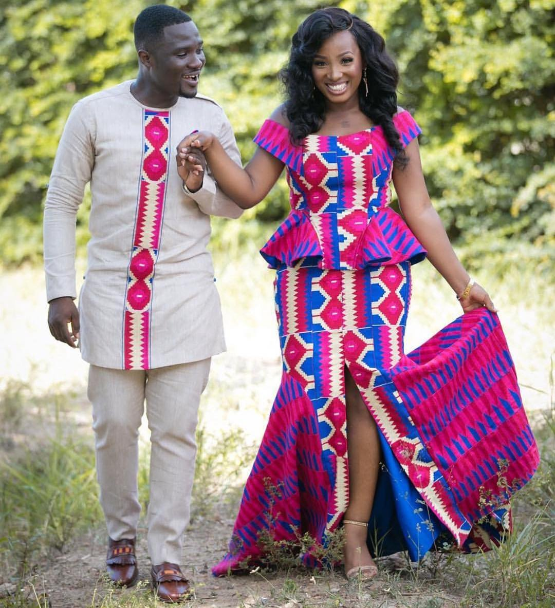 Hairstyle For Traditional Wedding: Elegant & Glamorous African Wedding Dresses In Kente