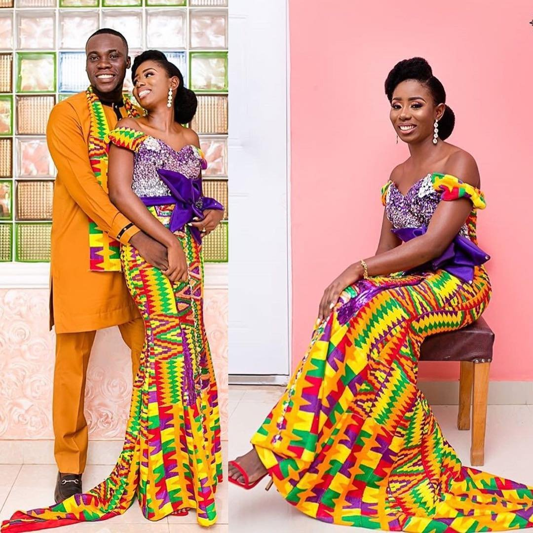 Wedding Hairstyles Ghana: Elegant & Glamorous African Wedding Dresses In Kente