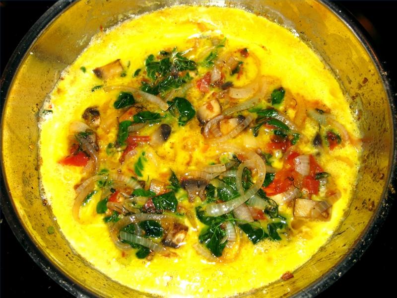 Plat Omelette à la Moringa