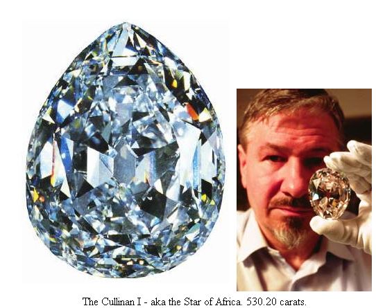 The Cullinan I aka the Star of Africa 530.20 carats- south africa