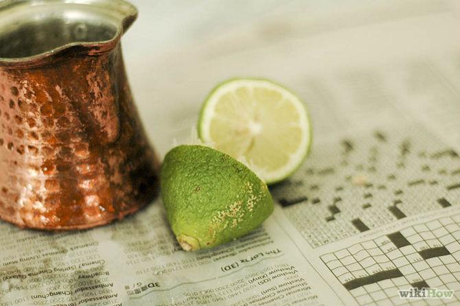 Coupez deux citrons en deux moitiés-Clean-Copper-Step-1