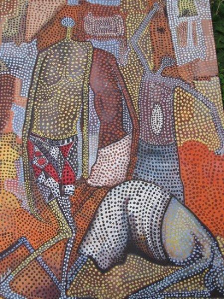 Peintre togolais edmond Yawovi Seddoh - battu - 2011