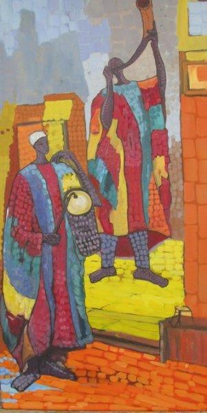 Peintre togolais edmond Yawovi Seddoh - griots - 2011