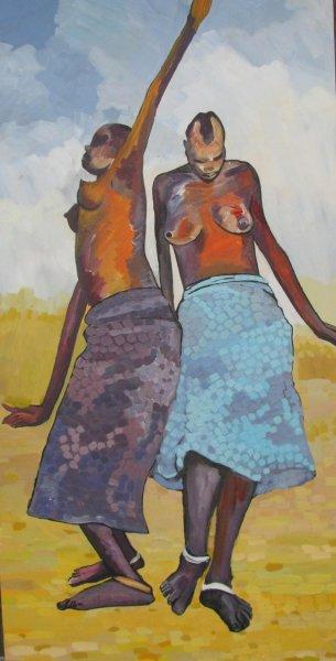 Peintre togolais edmond Yawovi Seddoh - la danse - 2011