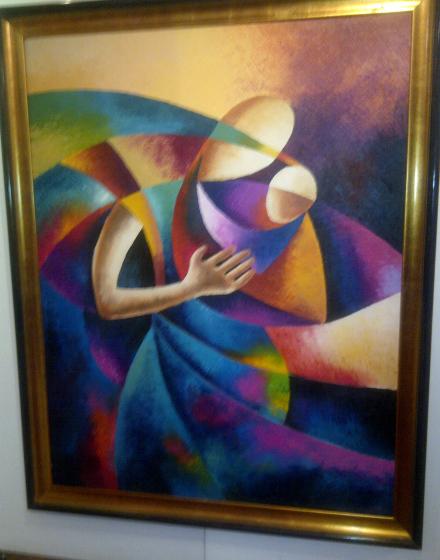 Sammy Lutaya - peintre kenyan - Maternal Affection