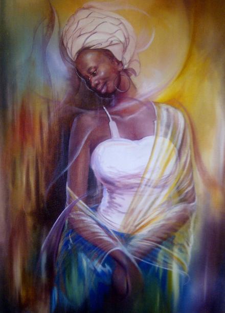 Sammy Lutaya - peintre kenyan - the mona lisa