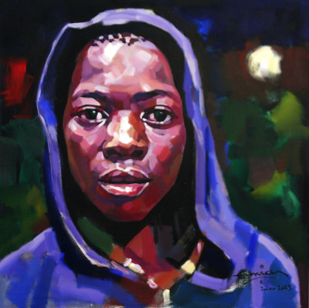 Ermias Ekube - Boy in blue hood
