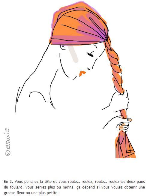 savoir nouer son foulard - forme fleur 3