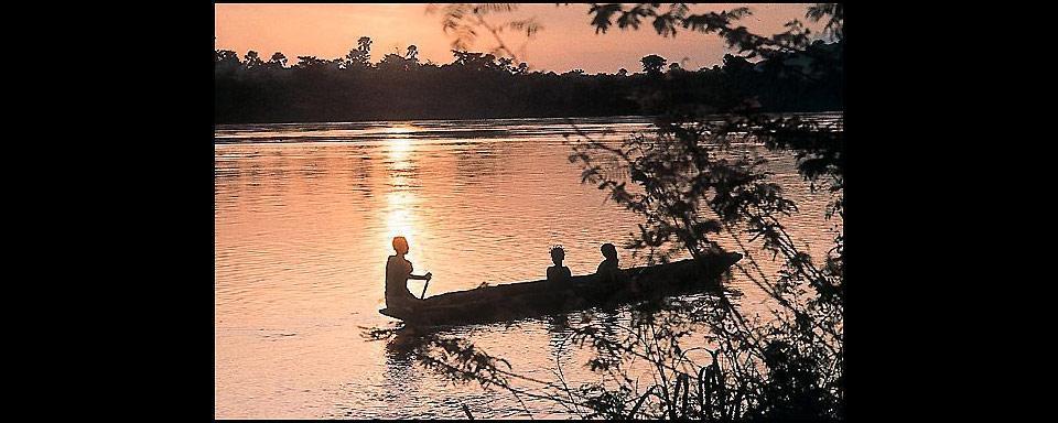 Le village de M Bé au Congo