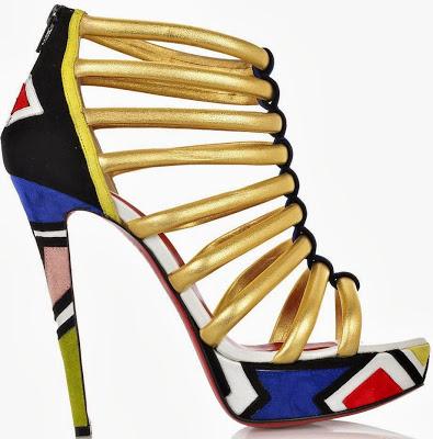Christian Louboutin Ndebele print shoes
