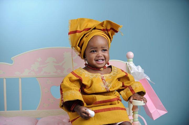 Pagne-boubou africain - Les enfants en tenue traditionnele africain
