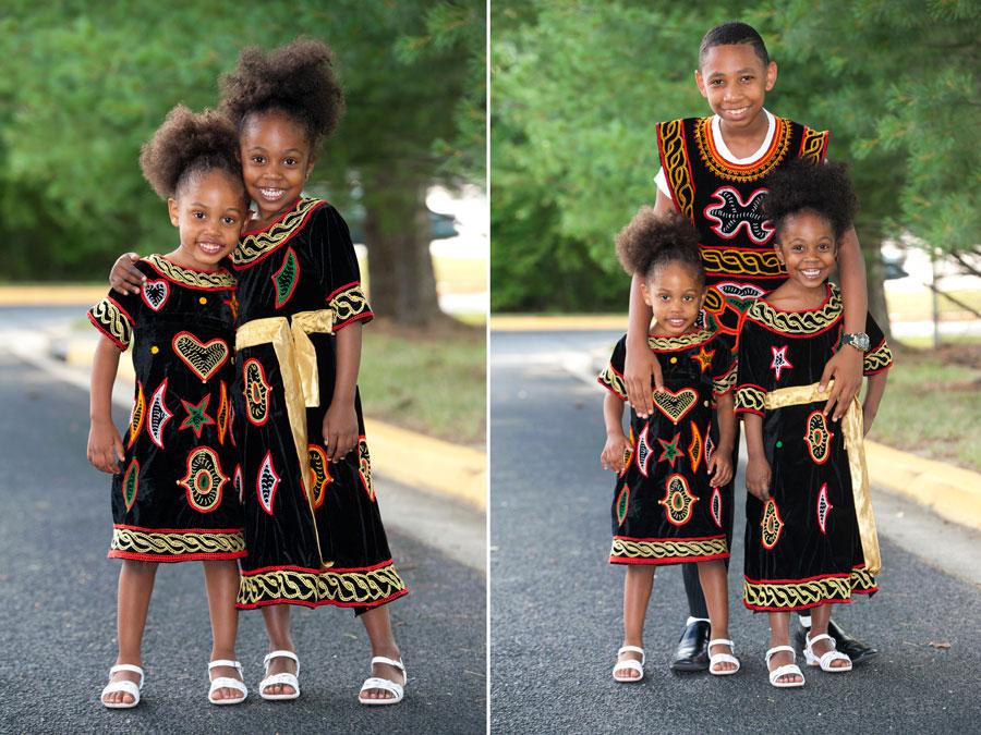 Toghu -Les enfants en tenue traditionnelle-cameroun (2)