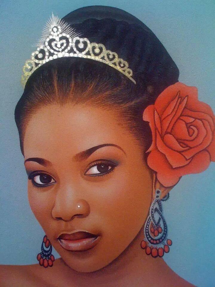 Genevieve Nnaji -Ardhy Massamba -artiste peintre portraitiste congolais (13)